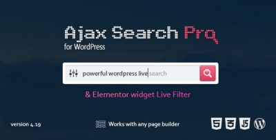 Ajax Search Pro For WordPress – Live Search Plugin 4.19.4