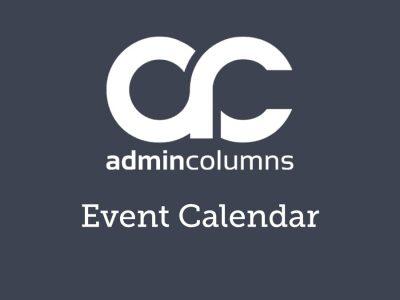 Admin Columns Pro Events Calendar Addon 1.4.1