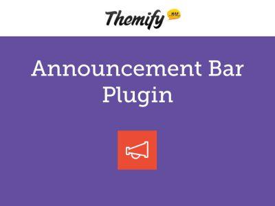 Themify Announcement Bar WordPress Plugin 1.3.5