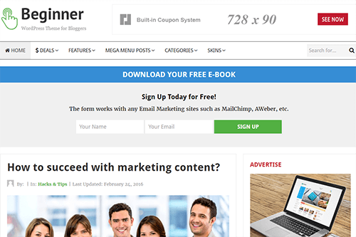 Theme Junkie Beginner WordPress Theme 1.0.1