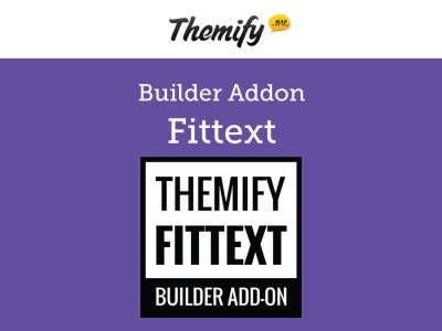 Themify Builder FitText Addon 1.1.8