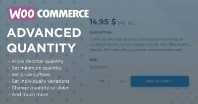 WooCommerce Advanced Quantity 2.4.5