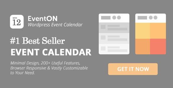 EventOn – WordPress Event Calendar Plugin 2.9