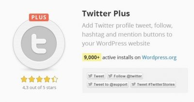 Twitter Plus WordPress Plugin 2.63