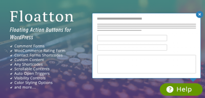 Floatton | WordPress Floating Action Button with Pop-up Contents for Forms or any Custom Contents 2.0