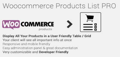 Woocommerce Products List Pro 1.1.20