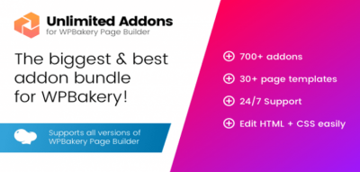 Unlimited Addons for WPBakery Page Builder (Visual Composer) 1.0.41