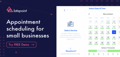 LatePoint - Appointment Booking & Reservation plugin for WordPress 3.1.2