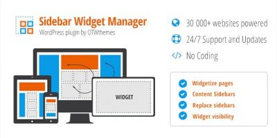 Sidebar & Widget Manager for WordPress 4.0