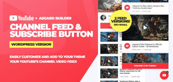 Youtube Channel Feeds and Subscribe Box WordPress Plugin  1.0