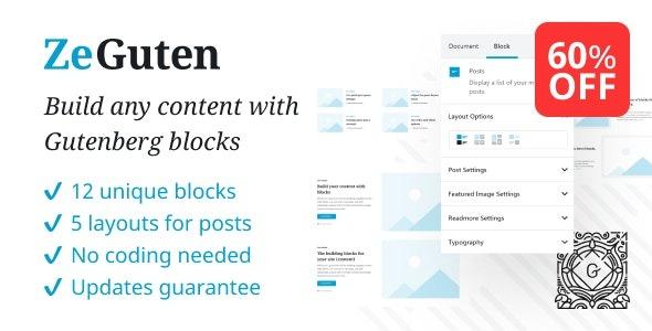ZeGuten — Blocks for Gutenberg  1.0.15