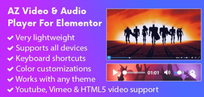 AZ Video and Audio Player Addon for Elementor 2.0.0