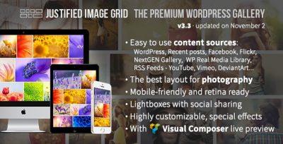 Justified Image Grid – Premium WordPress Gallery 4.1.1