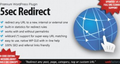 5sec Redirect WordPress Plugin 1.30