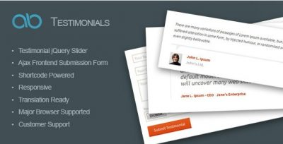 AB Testimonial WordPress Plugin  1.0.1
