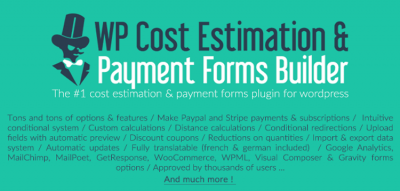 WP Cost Estimation & Payment Forms Builder 9.706