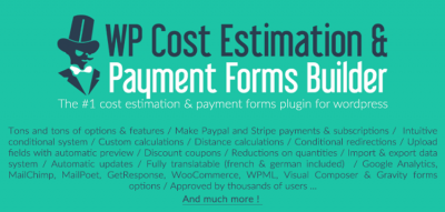 WP Cost Estimation & Payment Forms Builder 9.695