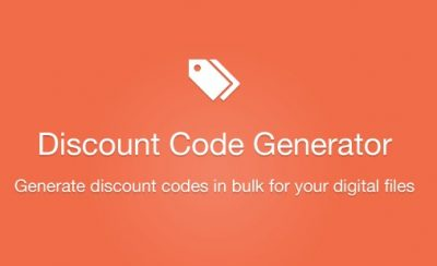 Easy Digital Downloads Discount Code Generator Addon  1.1.0