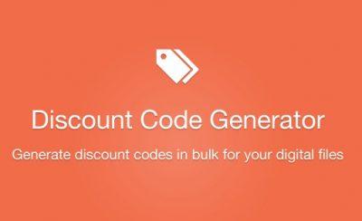 Easy Digital Downloads Discount Code Generator Addon 1.1.0