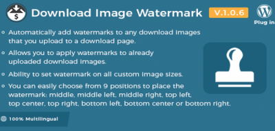 Easy Digital Downloads - Download Image Watermark 1.1.0