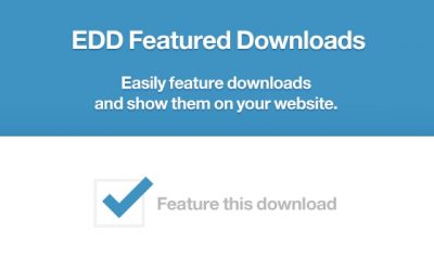 Easy Digital Downloads Featured Downloads 1.0.4