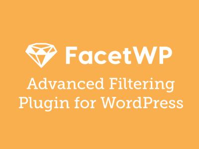 FacetWP – Advanced Filtering Plugin for WordPress 3.8.8