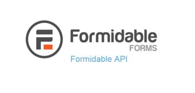 Formidable Forms - Formidable API 1.08