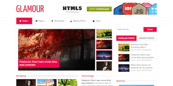 MyThemeShop Glamour WordPress Theme 2.0.15