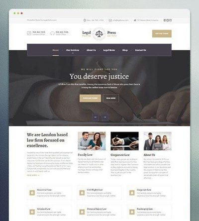 LegalPress WordPress Theme