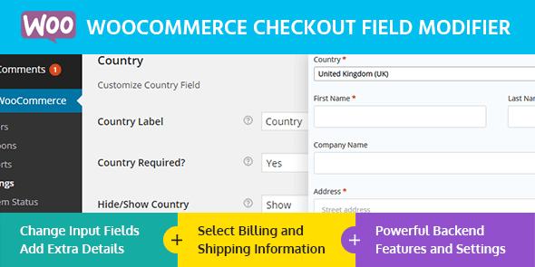 MyThemeShop WooCommerce Checkout Field Modifier 1.0.2