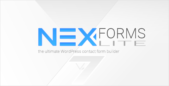 NEX-Forms Lite – WordPress Form Builder Plugin 7.4