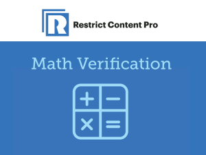 Restrict Content Pro – Math Verification 1.0.4