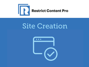 Restrict Content Pro – Site Creation 1.3.1
