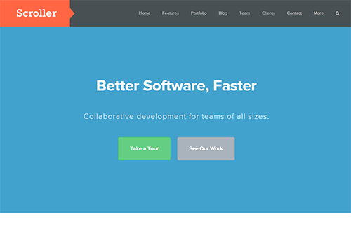 Theme Junkie Scroller WordPress Theme 1.0.5