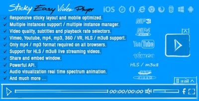 Sticky Easy Video Player Wordpress Plugin 1.1