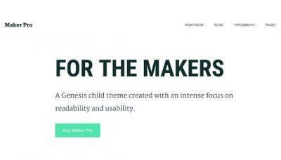 StudioPress Maker Pro Theme 1.0.1