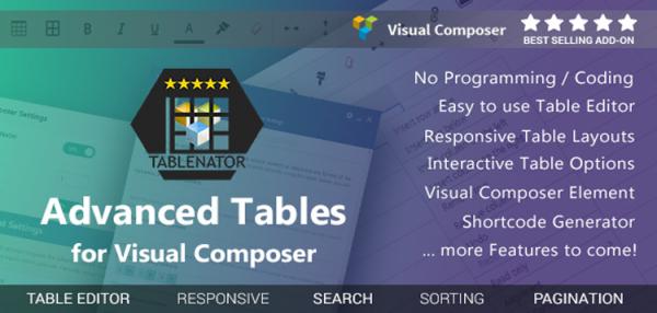 Tablenator - Advanced Tables for Visual Composer 2.0.2