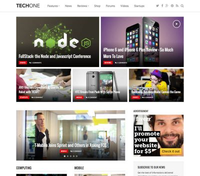 FameThemes Techone WordPress Theme 1.0.5