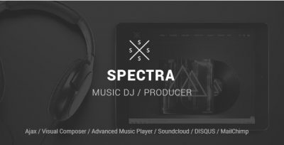 Spectra – WordPress Music & Events Theme 1.5.4