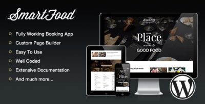 SmartFood – Restaurant, Cafe, Bistro WordPress Theme 1.3.3