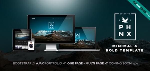 Phoenix - WordPress Minimal Multipurpose Portfolio with Visual Composer 1.5