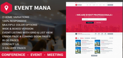 Event Management WordPress Theme 1.8.8