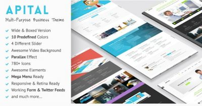 Apital – Ultra Premium Business WordPress Theme 1.1