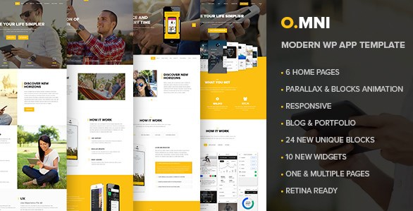Omni – Stylish Powerful One Page WP Theme 1.5.4