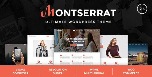 Montserrat – Multipurpose Modern WordPress Theme 2.5