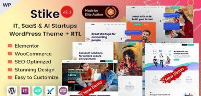 Stike - Elementor IT Startups WordPress Theme  2.3