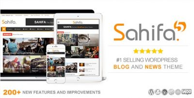 Sahifa – Responsive WordPress News / Magazine / Newspaper Theme 5.7.5