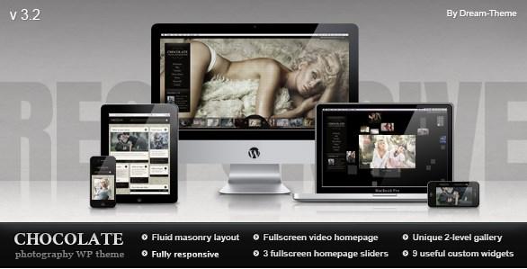 Chocolate WP – Responsive Photography Theme 3.2.3