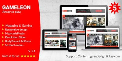 Gameleon – WordPress Magazine & Arcade Theme 6.6