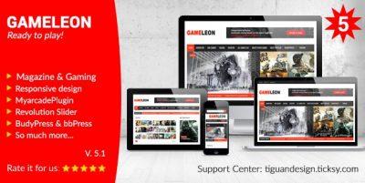 Gameleon – WordPress Magazine & Arcade Theme 6.3